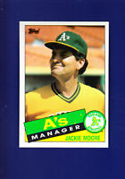 Oakland Athletics Team CL (Unmarked) 1985 TOPPS Baseball #38 (MINT) Jackie Moore
