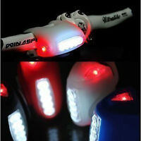 Cycling Bike Bicycle 7 LED Black Silicone Lamp Front Lights or Rear Warning
