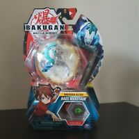 BAKUGAN BATTLE PLANET ULTRA HAOS MAXOTAUR - WHITE! BAKUCORES! UK! VERY RARE! UK!