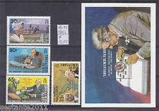 TURKS & CAICOS Y. 583 / 586 + BL 39, ROOSVELT , GEORGE  WASHINGTON,  MNH** B90