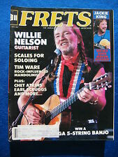Frets Magazine December 1984 Willie Nelson Jackie King Chet Atkins Scruggs