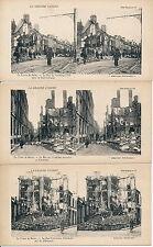 Lot 14 Stéréos WW1 Le Crime de Reims American Stéréorama - 7
