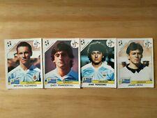 Panini Mondial 90 - Uruguay - 4 joueurs dont Francescoli