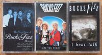 3x BUCKS FIZZ CASSETTE TAPES LOT UK POP 1980s CHERYL BAKER BOBBY G