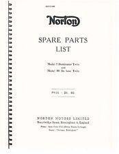 Norton Parts Manual Book 1955 Model 7 Dominator Twin & Model 88 De Luxe Twin