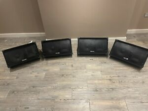 """4 XPulse PVS10 Wedge Monitor  400W 10"""" With Amp And Power"""