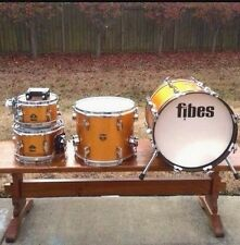 Vtg - Fibes Austin Era Gold Sparkle Jazz/Bop Drum Set/Kit - Gretsch *RARE*