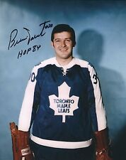 "Autographed 8x10 BERNIE PARENT ""HOF 84"" Toronto Maple Leafs photo w Show Ticket"