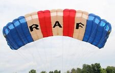 Silhouette 210 sqft skydiving parachute canopy by Performance Designs - RAF logo