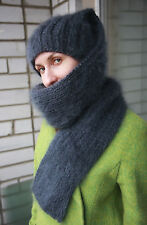 """New collection HAT-SCARF """"SNAKE"""" Premium Longhair Mohair hand knit by Jane Rodas"""