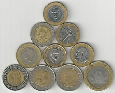 10 BI-METAL COINS from 10 DIFFERENT COUNTRIES (ARGENTINA to VENEZUELA) - Lot #1