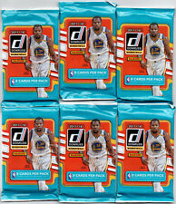 Lot of 6 - 2017-18 Panini Donruss Basketball Retail Packs - 8 Cards per Pack