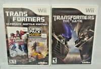 Transformers + Ultimate Battle Edition -  Nintendo Wii Wii U Game Lot Complete