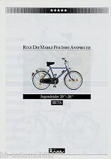 "Rixe BETA jugendrad 20"" -26"" BICICLETTA PROSPEKT 1984 BICICLETTA prospetto brochure BIKE"
