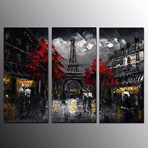 FRAMED HD Canvas Prints Home Decor Eiffel Tower Wall Art Canvas Painting-3pcs