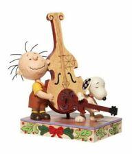 Jim Shore 2020 Peanuts Pageant Snoopy W/ Guitar, Pigpen W/ Chello- Merry 6006934
