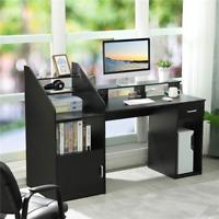 """64.5"""" Computer Desk Gaming desk Study Writing Desk Workstation w/ Cabinet Door"""
