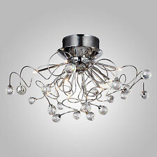 Hot Crystal Flush Mount Chandelier Ceiling Light Lamp Fixture Modern Lighting