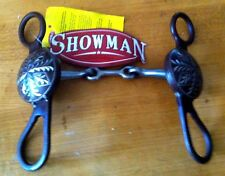 Brand New Showman Brown Steel Concho Engraved Western Horse Bit #237150
