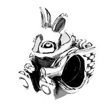 Authentic Pandora silver 925 #791121 Easter Bunny Rabbit slide Bead Charm NWOT