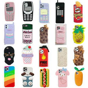 Case For iPhone 12 11 Pro Max XR 6 8 7 Plus Cute 3D Cartoon Silicone Cover Kids