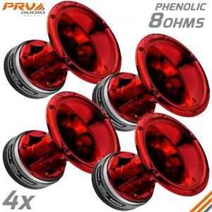 4x PRV D2200Ph Pro Audio Phenolic Compression Driver 800W + WGP14-50 Red CR Horn