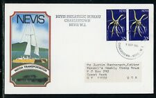 Nevis Scott #O30 FIRST DAY COVER Orchids Flowers FLORA 20c $$