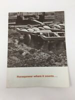 "Vintage Caterpillar Brochure ""Horsepower Where It Counts"" D4D D5 Tractor Ad"