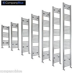 450mm Wide Chrome Heated Towel Rail Radiator Bathroom Ladder Flat or Curved