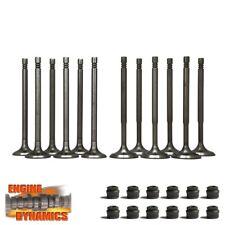 12 Ventile: 6x Einlassventil, 6x Auslassventil VW 1,2 12V inkl Schaftdichtungen