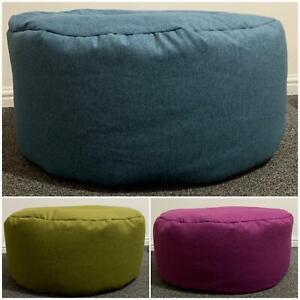 Circular Bean Bag Seat Couch Chair Footstool Foot Rest Soft Dumfries Wool Like