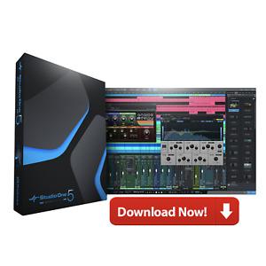 New PreSonus Studio One 5 Artist DAW Professional Software E-Delivery Download