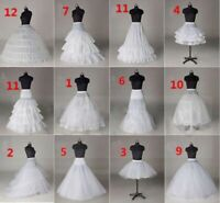 White A Line Petticoat Short Underskirt Hoop Bridal Crinoline for Wedding Dress
