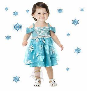 New Snowflake Princess Toddler Halloween Costume Dress