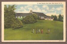 VINTAGE POSTCARD USED 1957 EAST AURORA GOLF CLUB, EAST AURORA NEW YORK