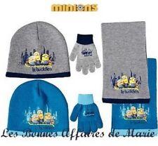 MINIONS - LIQUIDATION - Ensemble bonnet, écharpe et gants bleu - Neuf étiquette