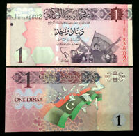 Libya 1 Dinar Banknote World Paper Money UNC Currency Bill Note