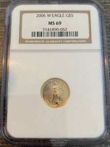 AVC - 2006-W BURNISHED $5 GOLD EAGLE NGC MS69