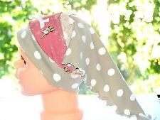 Baby Winter-Schlupfmütze Rentier Jersey-Fleece 47cm-50cm Kopfumfang Handmade*Neu