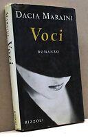 VOCI - D. Maraini [Rizzoli editore]
