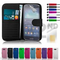 Flip PU Leather Wallet Case Cover For Samsung Galaxy S3 i9300 & S3 Mini i8190