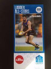 2015 Ladder AFL All Star Card Pearce Hanley Brisbane Lions