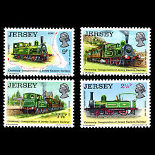 Jersey 1973 - 100th Anniv of the Jersey Eastern Railway Trains - Sc 85/8 MNH