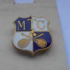 MTC   enamel  tennis club  members  badge   by miller