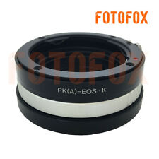 Pentax K mount PK DA A lens to Canon EOS R RF mount mirrorless camera adapter