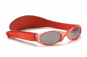 Baby Banz Sunglasses 100% UV Protection Soft Neoprene Band Red Children 6-18m
