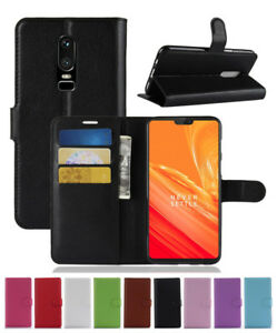 Leather slot wallet stand flip Cover Skin Case For OnePlus 1/2/3/X/3T/5/5T/6/6T