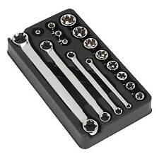"Sealey trxstar 3/8 ""Sq Socket Unidad & Spanner Set 16PC herramienta mecánica ak61801"