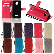 For Motorola MOTO Phone Luxury Pattern Leather Card Wallet Flip Stand Case Cover