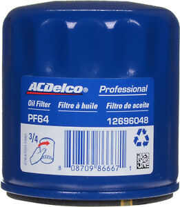 Engine Oil Filter ACDelco Pro PF64 Professional OEM For Buick, Chevy, GMC + More